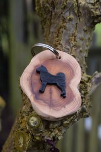 Magic Thistle Crafts – Finnish Spitz Key Ring (yew wood) £6.00