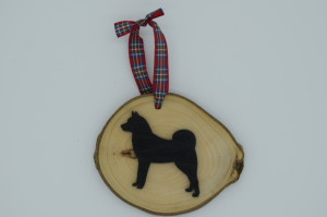 Finnish Spitz Hanging Decoration  (yew wood) by Magic Thistle Crafts – £5.00