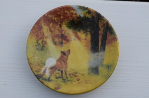 "Finnish Spitz wall plate (small) made by ""Arabia"" pottery company in Finland £15.00 * SOLD OUT *"