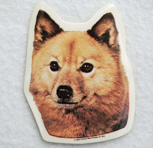 Finnish Spitz head sticker    –  £1.00