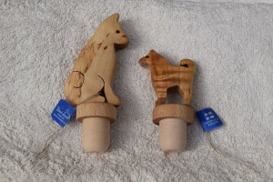 Finnish Spitz curly birch bottle corks by Wood Jewel   –   £6.00