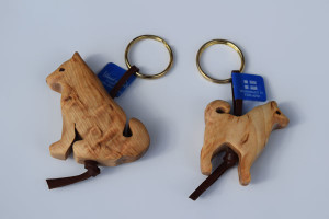 Finnish Spitz curly birch key rings by Wood Jewel   –   £6.00